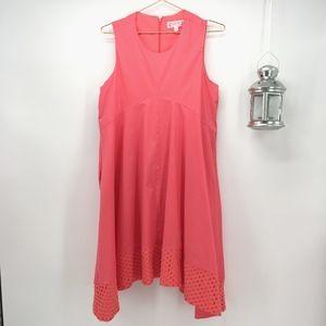 Nanette Lepore Lace Hem Sleeveless Swing Dress
